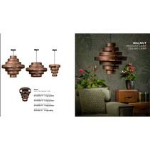 Walnut hanglamp