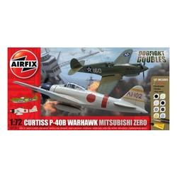 Curtiss P-40B Warhawk + Mitsubishi Zero 1:72  # Airfix 50127
