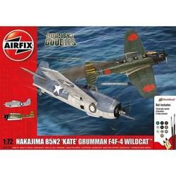 Nakajima B5N2 'Kate' + Grumman Wildcat F4F4  1:72