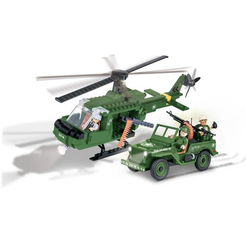 Cobi - Small Army - Willys Jeep +Helicopter #  Cobi 24254