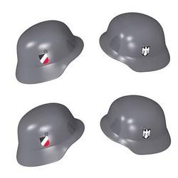Duitse helm met print - Grijs - 4 stuks - Cobi