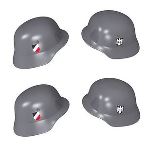 Cobi Duitse helm met print - Grijs - 4 stuks - Cobi