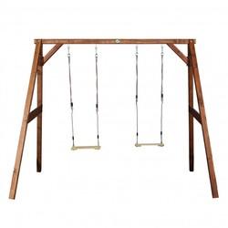 AXI Dubbele houten schommel - bruin