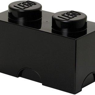 LEGO 4002 Zwarte Opbergbox 2x1