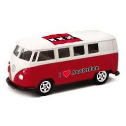 Volkswagen T1 Bus 'I Love Amsterdam' Rood Welly 1:60