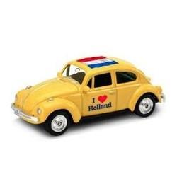 Volkswagen Kever 'I Love Holland' 1:60 Geel # Welly 52222