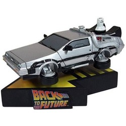 Back To The Future II Flying DeLorean Shakems  Premium Motion Statue