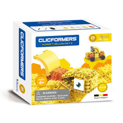 Clicformers Craft Set Geel - 25 Delig