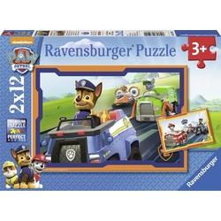 Paw Patrol In Actie - Puzzel 2 x 12