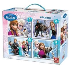 Frozen 4 in 1 Puzzel In Koffer