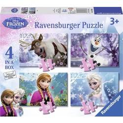 Puzzel Frozen 4 in 1