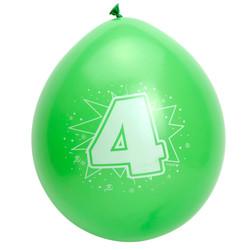 Ballonnen Verjaardag 4 jaar - 8 Stuks