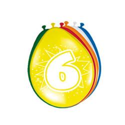 Ballonnen Verjaardag 6 jaar - 8 Stuks