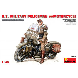 U.S. Military Policeman + Motorcycle 1:35 # MiniArt 35168