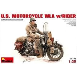 U.S. Motorcycle WLA w/Rider 1:35 # MiniArt 35172