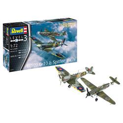 Messerschmitt Bf109G-10 + Spitfire Mk.V 1:72 # Revell 03710