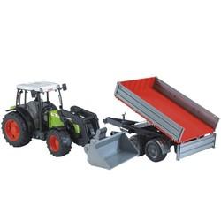 Tractor Claas met aanhanger # Bruder 02112