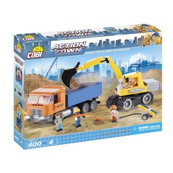 Cobi Action Town Dump Truck and Excavator # 1667