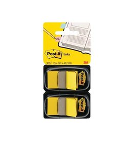 Post-it Post-it Index Standaard, 25,4x43,2 mm, geel,blister van 2st