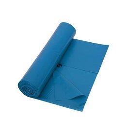 Merkloos Vuilniszak 42 micron, 65 + 50 x 135 cm, blauw, rol van 10st