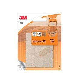 3M 3M Viltjes, Extra soft, ft 24 x 22 mm, blister van 12 stuks