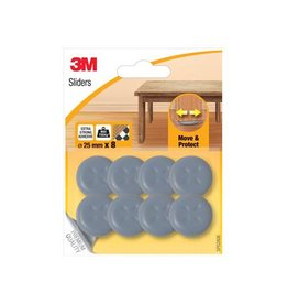 3M 3M Sliders, Move & Protect, van 25mm, blister van 8st