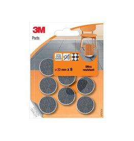 3M 3M viltglijders, Ultra Resistant, van 22mm, blister van 8st