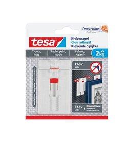 Tesa Tesa Klevende Spijker voor Behang en Pleisterwerk 2kg, 2st