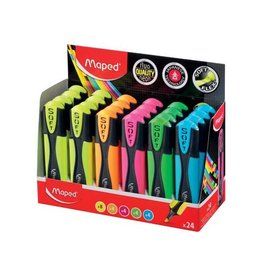 Maped Maped Fluo'Peps markeerstift Soft, display 24st in assorti