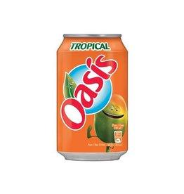 Oasis Oasis Tropical vruchtenlimonade, blik van 33 cl, 24 stuks