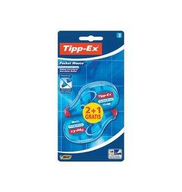 Tipp-ex Tipp-Ex correctieroller Pocket Mouse,blister met 2+1 gratis