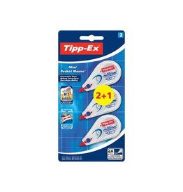 Bic Tipp-Ex correctieroller Mini Pocket Mouse, 2+1 gratis