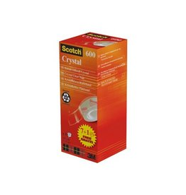 Scotch Scotch plakband Crysal Tape, 19mmx33m, 1x pack 8 rol.