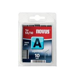 Novus Novus nietjes A 53/10 Super Hard, doos met 1000 nietjes