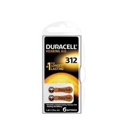 Duracell Duracell hoortoestelbatterijen DA312, blister van 6 stuks