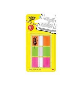 Post-it Post-it Index standaard 25,4x43,2mm, 3 kl. 20 tabs per kleur