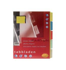 Multo Multo tabbladen A5 5-delig 17-gaatsperforatie karton 250g/m²