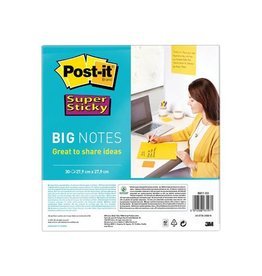 Post-It Super Sticky Post-it Super Sticky Big Notes, 28cmx28cm, blok 30 vel, geel