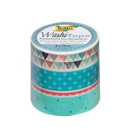 Folia Folia washi tape pastel, pak met 4st in assorti