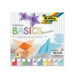 Folia Folia vouwpapier Basic Intensive ft 15x15cm, pak met 50 vel