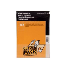 Cleverpack Cleverpack monsterenveloppen, 229x324x38mm, wit, 25st
