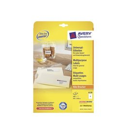 Avery Zweckform Avery Zweckform 6120, wit, 25+5 vellen, 4 pervel, 105x148mm