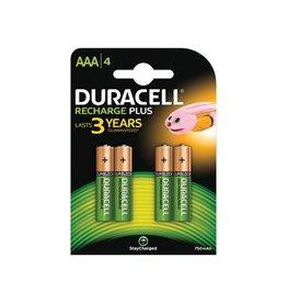 Duracell Duracell oplaadbare batterijen Recharge Plus AAA blister 4st