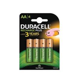 Duracell Duracell oplaadbare batterijen Recharge Plus AA, blister 4st