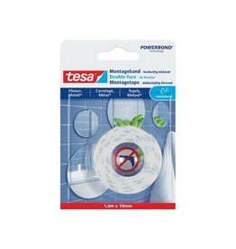 Tesa Tesa Powerbond montagetape Waterproof, 19 mm x 1,5 m