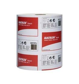 KATRIN Katrin handdoeken dispenser op rol, 2-laags, 152 m, 6 rollen
