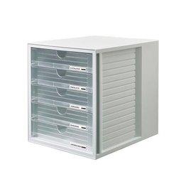 Han Han ladenblok Systembox met 5 gesloten laden, transparant