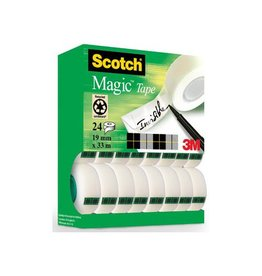 Scotch Scotch Magic Tape plakband 19mmx33 m, value pack 24 rollen
