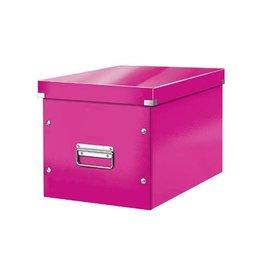 Leitz Leitz Click & Store kubus grote opbergdoos, roze