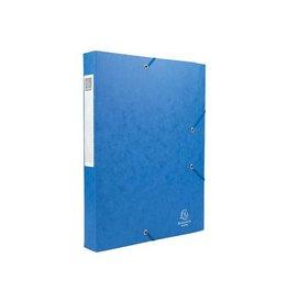 Exacompta Exacompta Elastobox Cartobox rug 4cm, blauw, kwaliteit 7/10e